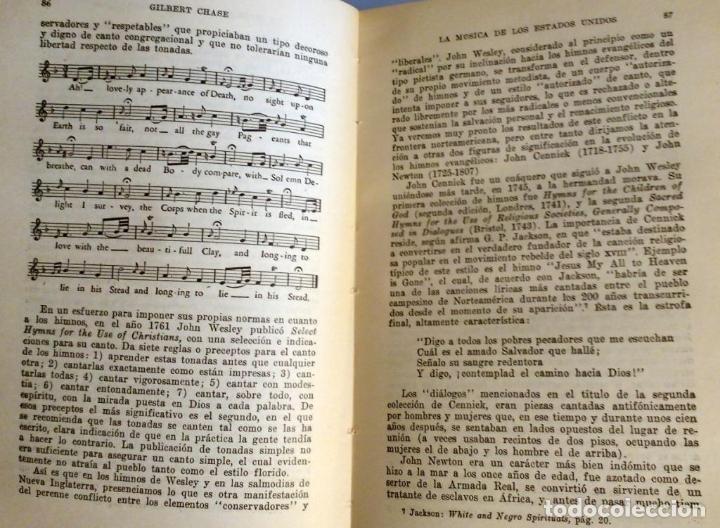 Libros antiguos: LA MUSICA DE LOS ESTADOS UNIDOS - GILBERT CHASE - Foto 8 - 80381789