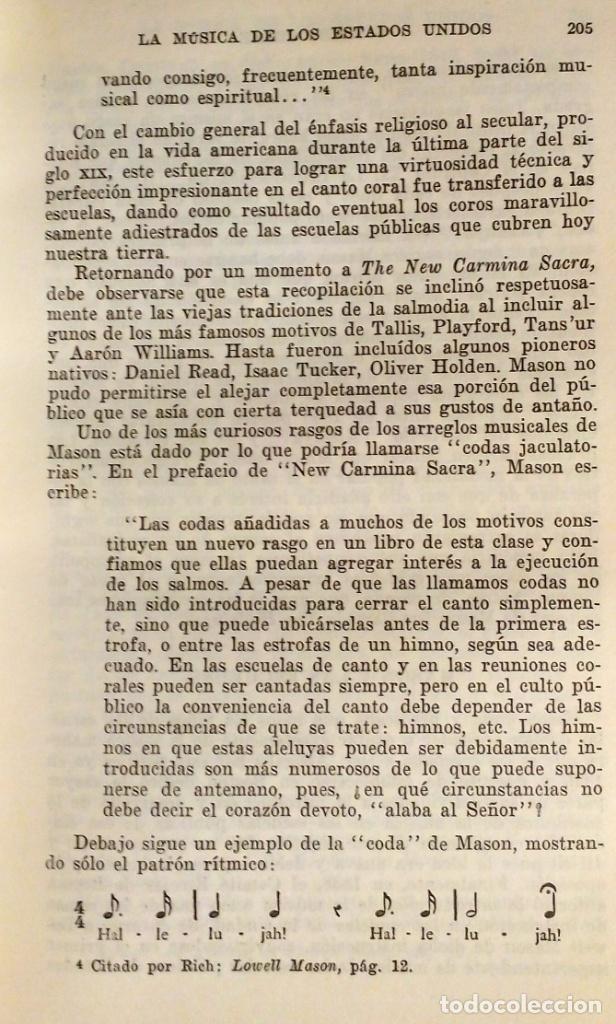 Libros antiguos: LA MUSICA DE LOS ESTADOS UNIDOS - GILBERT CHASE - Foto 9 - 80381789