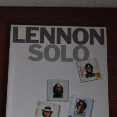 Libros antiguos: LENNON SOLO - ARREGLOS PARA PIANO Y VOZ, ACORDES PARA GUITARRA Y LETRAS - 1997. Lote 80383917
