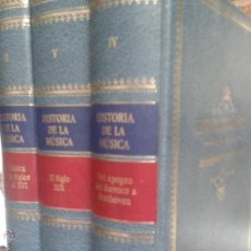 Libros antiguos: LIBROS ARTE MUSICA - HISTORIA DE LA MUSICA TOMOS II IV V DE LA SOCIEDAD ITALIANA DE MUSICOLOGIA. Lote 54073441