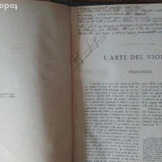 Libros antiguos: L' ARTE DEL VIOLINO. CARL FLESCH. (MÉTODO DE VIOLÍN. TEXTO EN ITALIANO) 1924. Lote 82036272