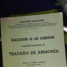 Libros antiguos: TRATADO DE LA ARMONIA. JOAQUIN ZAMACOIS. LIBRO II. Lote 82620228