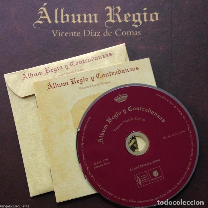 Libros antiguos: ÁLBUM REGIO de VICENTE DÍAZ DE COMAS FACSIMIL del AÑO 1998 con CD - Foto 3 - 84003636
