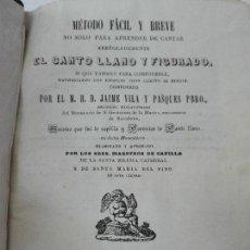 Libros antiguos: METODO FACIL Y BREVE PARA APRENDER A CANTAR JAIME VILA Y PASQUES AÑO 1848. Lote 86347680