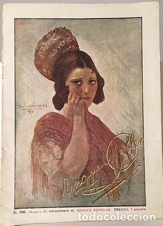 NÚMERO EXTRAORDINARIO DE MÚSICA POPULAR: RAQUEL MELLER. 1917 EL CINE (ALVARO DE RETANA Y OTROS) (Libros Antiguos, Raros y Curiosos - Bellas artes, ocio y coleccion - Música)