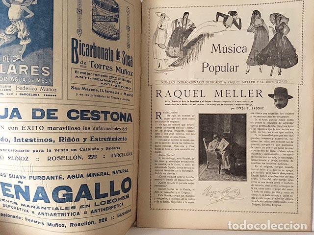 Libros antiguos: Número extraordinario de Música Popular: Raquel Meller. 1917 El Cine (Alvaro de Retana y otros) - Foto 2 - 87786908