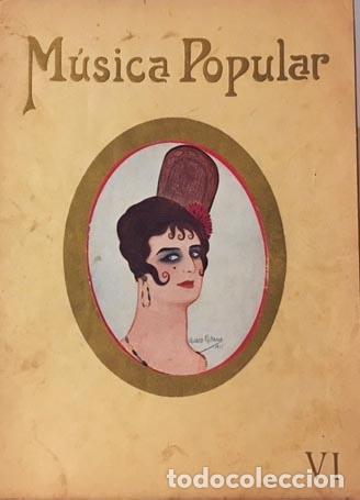 NÚMERO EXTRAORDINARIO DE MÚSICA POPULAR: GASPAR DE AQUINO. 1915 EL CINE (ALVARO DE RETANA Y OTROS) (Libros Antiguos, Raros y Curiosos - Bellas artes, ocio y coleccion - Música)