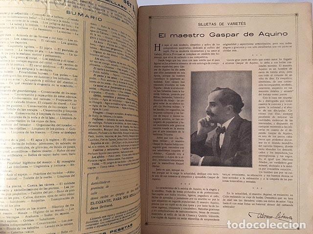 Libros antiguos: Número extraordinario de Música Popular: Gaspar de Aquino. 1915 El Cine (Alvaro de Retana y otros) - Foto 2 - 87787264