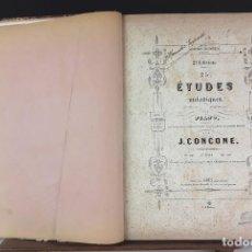 Libros antiguos: ESTUDIOS DE PIANO. 5 EJEMPLARES EN I TOMO. VARIOS AUTORES. VARIAS EDITORIALES. S/F.. Lote 89274724