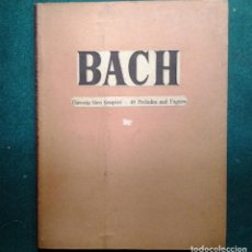 Libros antiguos: DAS WOHLTEMPERIERTE KLAVIER. BACH J.S./CZERNY CARL.48 PRELUDES AND FUGUES.ED.C.F PETERS.1906. Lote 89543612