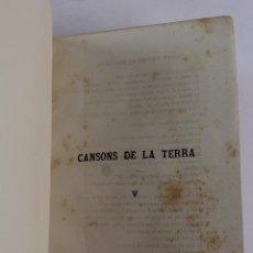 Libros antiguos: L-1298. CANSONS DE LA TERRA, FRANCESCH PELAY BRIZ. VOLUM V. EN CATALÀ. 1877.. Lote 90988830
