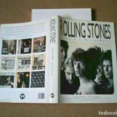 Libros antiguos: ROLLING STONES MUSICA Y RECUERDOS SPANISH BOOK AUTOR GEOFFREY GIULIANO LA MASCARA 1993. Lote 91134640