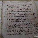 Libros antiguos: PARTE DE UNA PARTITURA RELIGIOSA MANUSCRITA. Lote 93309805