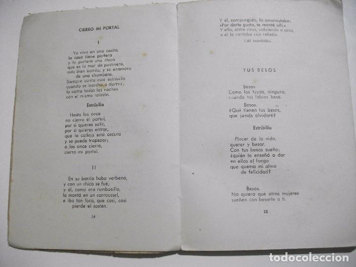 Libros antiguos: MUY RARO - DICEN MIS CANCIONES - TANGOS TONADILLAS COUPLETS ... POR JULIAN VELASCO DE TOLEDO 1945 - Foto 3 - 95309183