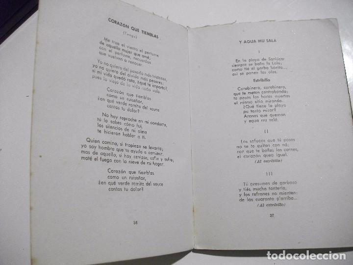 Libros antiguos: MUY RARO - DICEN MIS CANCIONES - TANGOS TONADILLAS COUPLETS ... POR JULIAN VELASCO DE TOLEDO 1945 - Foto 4 - 95309183