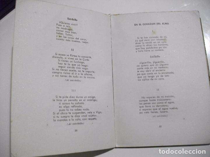 Libros antiguos: MUY RARO - DICEN MIS CANCIONES - TANGOS TONADILLAS COUPLETS ... POR JULIAN VELASCO DE TOLEDO 1945 - Foto 5 - 95309183