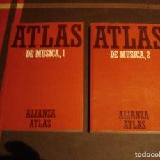 Libros antiguos: ATLAS DE MUSICA, 1 Y 2, EDICIÓN 2007, Y APRENDER A ESCUCHAR MÚSICA. Lote 95591379