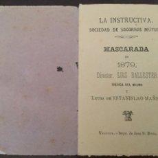 Libros antiguos: LA INSTRUCTIVA. VALENCIA. 1879. Lote 95866395