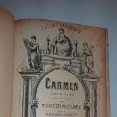 Libros antiguos: LIBRO DE PARTITURAS DE LA OPERA CARMEN DE GEORGES BIZET SOBRE 1870 ORIGINAL. Lote 96535099