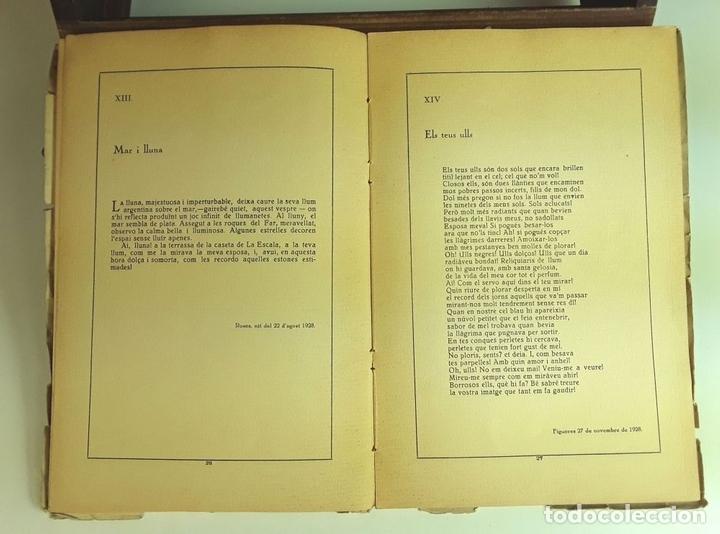 Libros antiguos: CANTS D'AMOR I DE DOLOR. LLORENÇ VIVES. TALLERS GRÁFICS EUGENI GISPERT. 1928. - Foto 4 - 97780931
