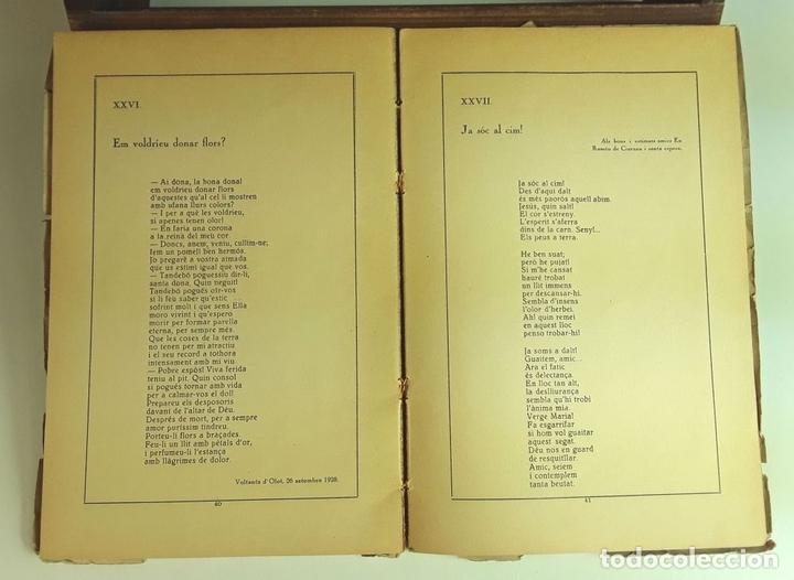 Libros antiguos: CANTS D'AMOR I DE DOLOR. LLORENÇ VIVES. TALLERS GRÁFICS EUGENI GISPERT. 1928. - Foto 5 - 97780931