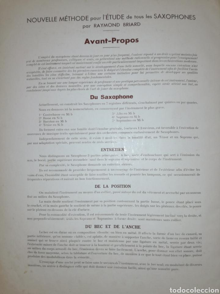 Libros antiguos: Antiguo Método para Saxofón 1930 - Foto 4 - 97810368
