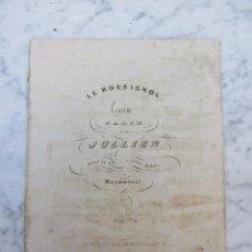Libros antiguos: PARTITURA LE ROSSIGNOL VALSE PAR JULLIEN Y MARMOTEL CREO 1867 PARIS E GERARD. Lote 103460299