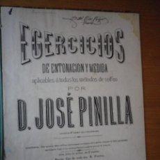 Libros antiguos: VER TEXTO INTERIOR LIBRO EJERCICIOS DE ENTONACION Y MEDIDA D. JOSE PINILLA. Lote 103481463