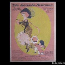 Alte Bücher - 1911 - Música - Die Keusche Susanne - Opereta Alemana - J. Gilbert/Okonkowsky - Partitura - 113885016