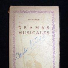 Libros antiguos: WAGNER. DRAMAS MUSICALES, VOL. 19. LOHENGRIN. EL BUQUE FANTASMA. CIA., IBERO-AMERICANA. Lote 104423683