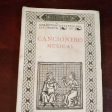 Libros antiguos: CANCIONERO MUSICAL - SIGLO XIII AL XX - EDUARDO MARTINEZ TORNER 1928. Lote 104854211