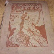 Libros antiguos: CANÇONER POPULAR / AURELI CAPMANY - 1903 / SOBRE POESÍA POPULAR CATALANA. Lote 107250055