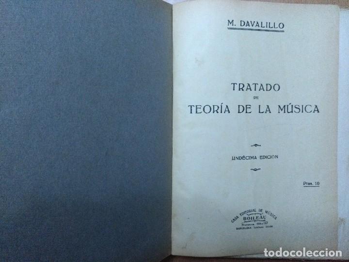 TRATADO DE LA TEORIA DE LA MUSICA M. DAVALILLO BARCELONA (Libros Antiguos, Raros y Curiosos - Bellas artes, ocio y coleccion - Música)