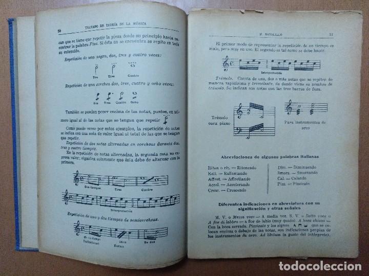 Libros antiguos: TRATADO DE LA TEORIA DE LA MUSICA M. DAVALILLO BARCELONA - Foto 3 - 107587167