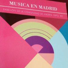 Libros antiguos: MÚSICA EN MADRID. Lote 108388131