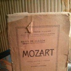 Libros antiguos: MOZART, EDUARDO L.-CHAVARRI, BIBLIOTECA VILLAR.. Lote 109290239