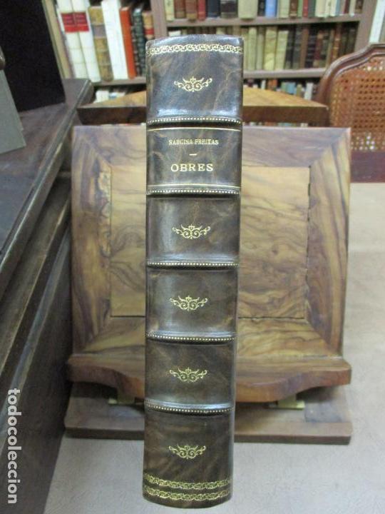 Libros antiguos: OBRES DE NARCISA FREIXAS. EDICIÓ DHOMENATGE. 1928. IL·LUSTRAT AMB PARTITURES I DIBUIXOS - Foto 2 - 110284639