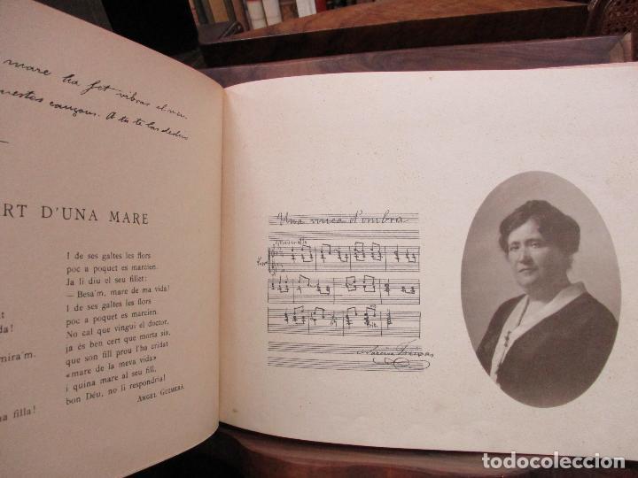 Libros antiguos: OBRES DE NARCISA FREIXAS. EDICIÓ DHOMENATGE. 1928. IL·LUSTRAT AMB PARTITURES I DIBUIXOS - Foto 5 - 110284639