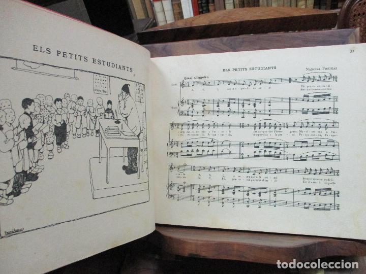 Libros antiguos: OBRES DE NARCISA FREIXAS. EDICIÓ DHOMENATGE. 1928. IL·LUSTRAT AMB PARTITURES I DIBUIXOS - Foto 7 - 110284639