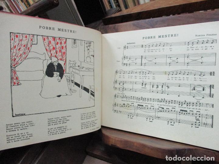 Libros antiguos: OBRES DE NARCISA FREIXAS. EDICIÓ DHOMENATGE. 1928. IL·LUSTRAT AMB PARTITURES I DIBUIXOS - Foto 8 - 110284639