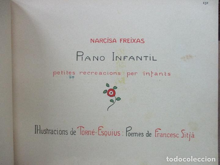 Libros antiguos: OBRES DE NARCISA FREIXAS. EDICIÓ DHOMENATGE. 1928. IL·LUSTRAT AMB PARTITURES I DIBUIXOS - Foto 10 - 110284639