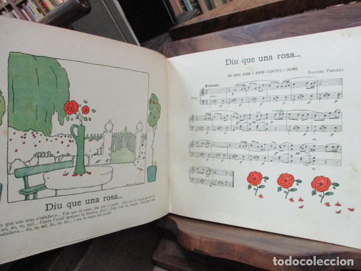 Libros antiguos: OBRES DE NARCISA FREIXAS. EDICIÓ DHOMENATGE. 1928. IL·LUSTRAT AMB PARTITURES I DIBUIXOS - Foto 11 - 110284639