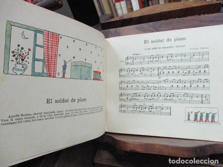 Libros antiguos: OBRES DE NARCISA FREIXAS. EDICIÓ DHOMENATGE. 1928. IL·LUSTRAT AMB PARTITURES I DIBUIXOS - Foto 12 - 110284639