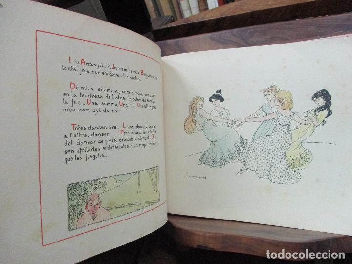 Libros antiguos: OBRES DE NARCISA FREIXAS. EDICIÓ DHOMENATGE. 1928. IL·LUSTRAT AMB PARTITURES I DIBUIXOS - Foto 13 - 110284639