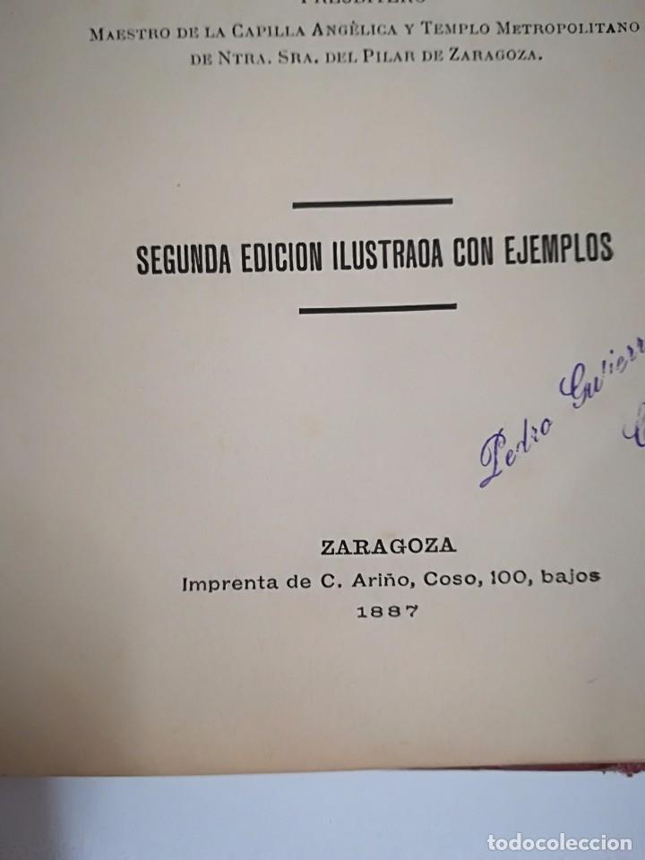 Libros antiguos: 1885 - ANTONIO LOZANO - PRONTUARIO DE ARMONÍA - Foto 4 - 113280455