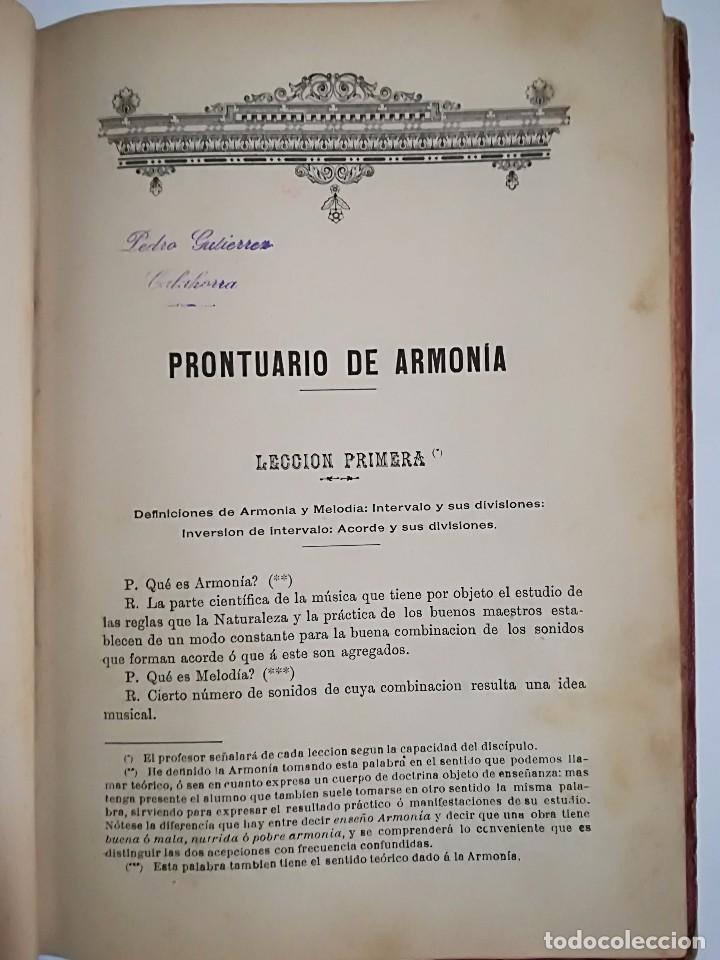 Libros antiguos: 1885 - ANTONIO LOZANO - PRONTUARIO DE ARMONÍA - Foto 6 - 113280455