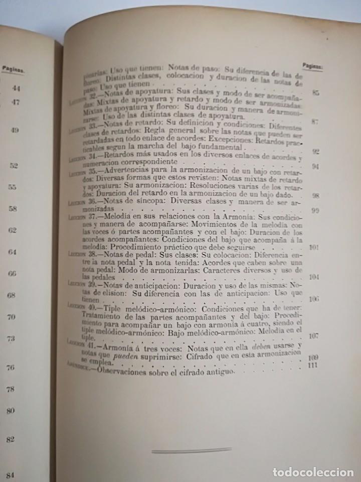 Libros antiguos: 1885 - ANTONIO LOZANO - PRONTUARIO DE ARMONÍA - Foto 9 - 113280455