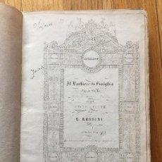 Libros antiguos: EL BARBERO DE SEVILLA, PARTITURA, MUY ANTIGUA, 1859. Lote 113858707