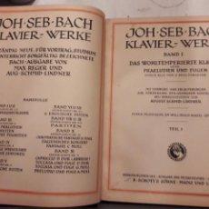 Libros antiguos: JOHAN SEBASTIAN BACH. DAS WOHLTEMPERIERTE KLAVIER. PARTITURAS 1921.. Lote 115422290