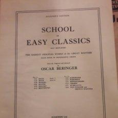 Libros antiguos: MÚSICA PARA PIANO. VARIOS CUADERNILLOS. SCHOOL EASY CLASSICS 1915. SCARLATTI BARTÓK1921.PARTITURAS.. Lote 115423406